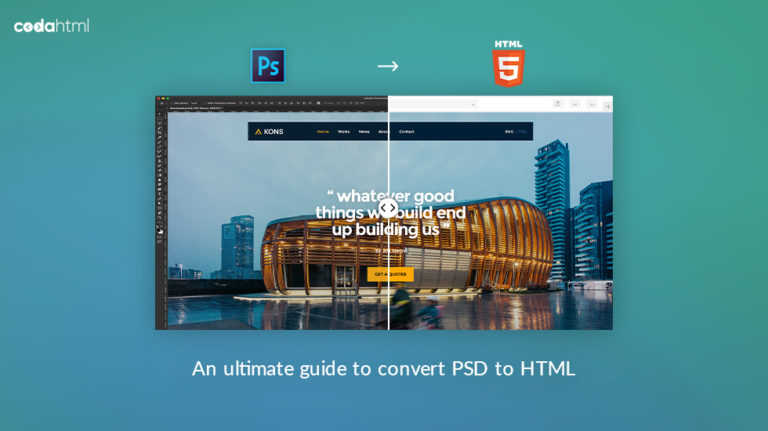 converting PSD to HTML